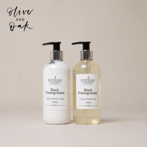 Sevenoaks Candle Co. Black Pomegranate Hand Wash & Hand Cream Duo