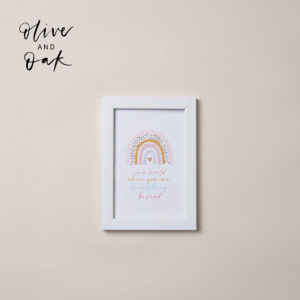 Lauren Loves Prints 'Kind' Framed Print
